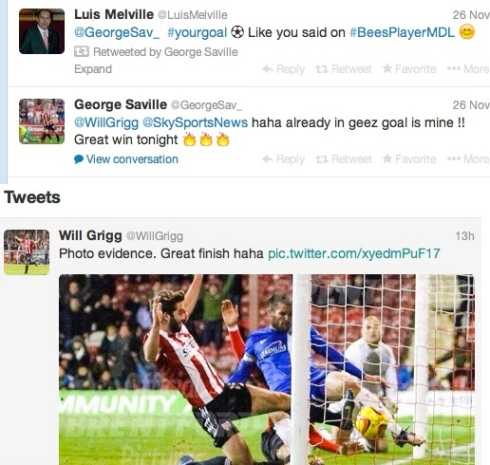 Will Grigg and George banter