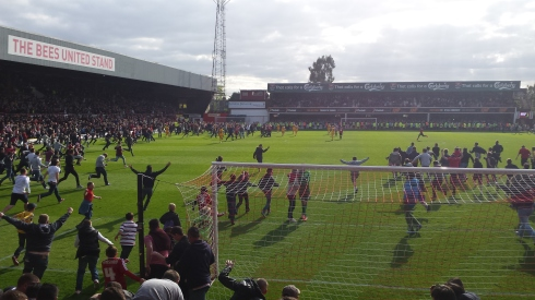 Griffin Park pitch invasion